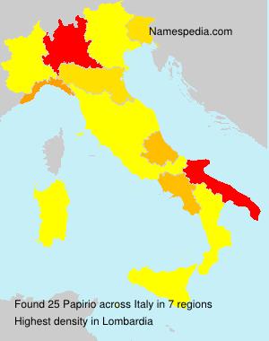 Familiennamen Papirio - Italy