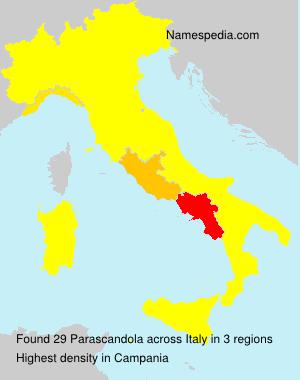 Surname Parascandola in Italy