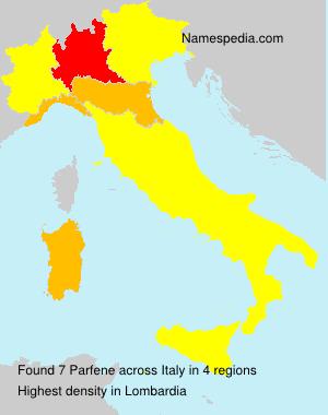 Surname Parfene in Italy