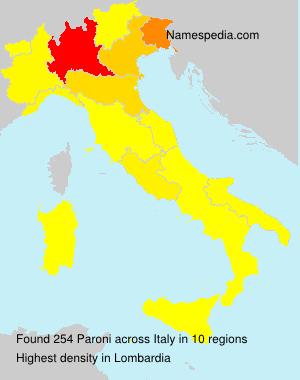 Familiennamen Paroni - Italy