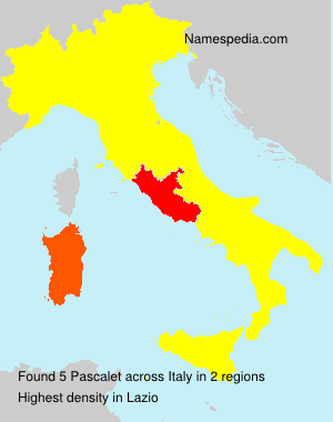 Surname Pascalet in Italy