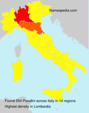 Surname Pasolini in Italy
