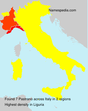 Surname Pastrano in Italy