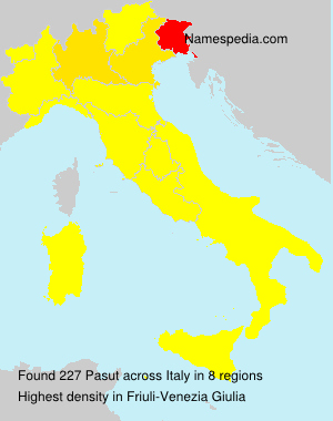 Surname Pasut in Italy
