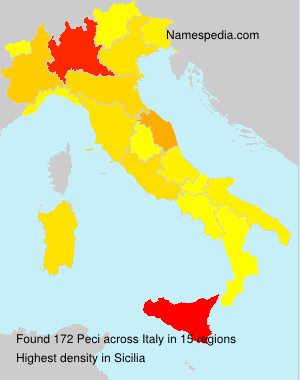 Surname Peci in Italy