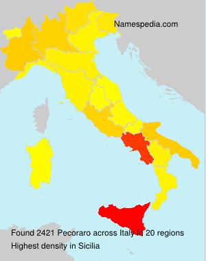 Surname Pecoraro in Italy