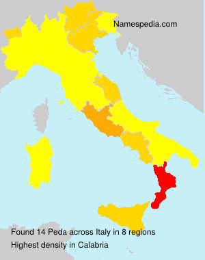 Surname Peda in Italy