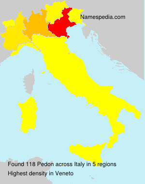 Surname Pedon in Italy