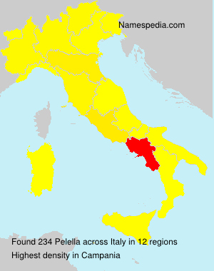 Surname Pelella in Italy