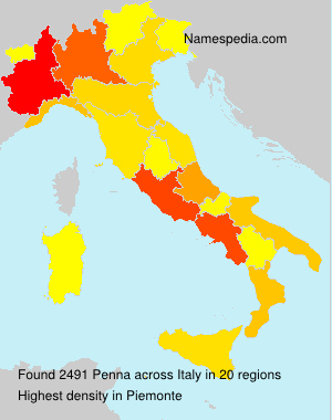 Surname Penna in Italy