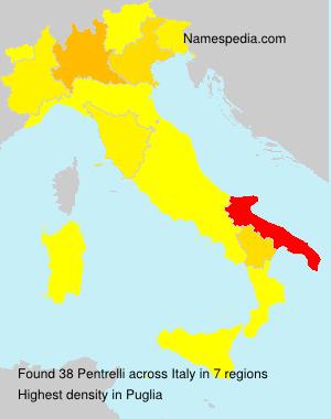 Familiennamen Pentrelli - Italy