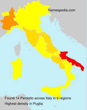 Surname Perdono in Italy