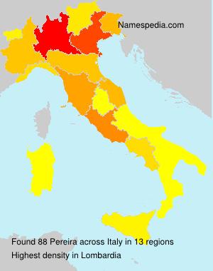 Familiennamen Pereira - Italy