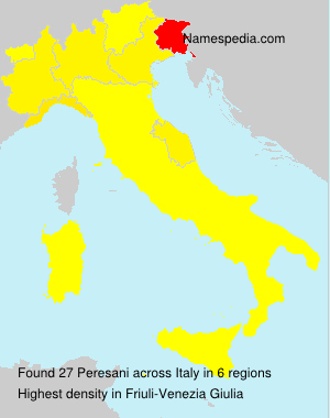Surname Peresani in Italy