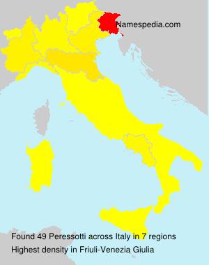 Familiennamen Peressotti - Italy