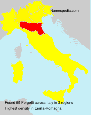 Familiennamen Pergetti - Italy