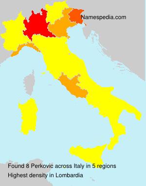 Surname Perkovic in Italy