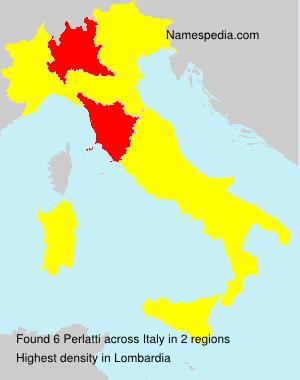 Familiennamen Perlatti - Italy
