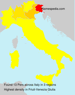 Surname Pers in Italy