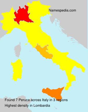 Familiennamen Peruca - Italy