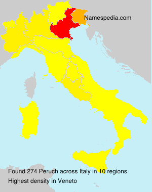 Surname Peruch in Italy
