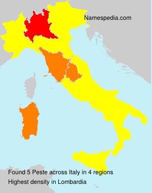 Surname Peste in Italy