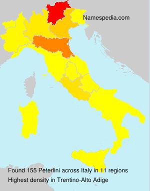 Familiennamen Peterlini - Italy