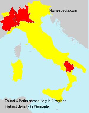 Familiennamen Petita - Italy