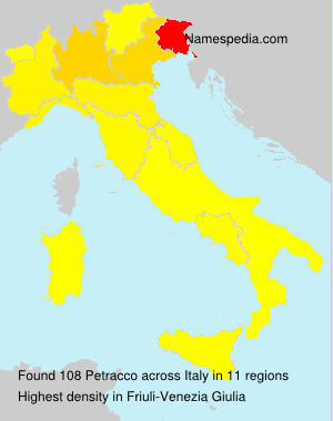 Familiennamen Petracco - Italy