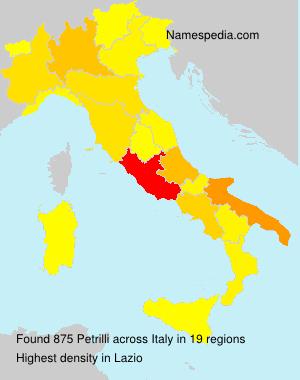 Familiennamen Petrilli - Italy