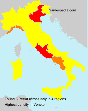 Surname Petrut in Italy