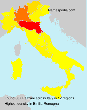 Surname Pezzani in Italy