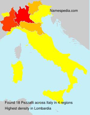 Surname Pezzatti in Italy