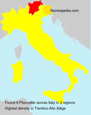 Surname Pfanzelter in Italy