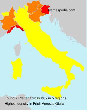 Surname Pfeffer in Italy