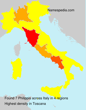 Surname Philippis in Italy