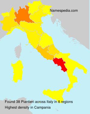 Surname Piantieri in Italy