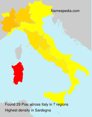 Surname Pias in Italy