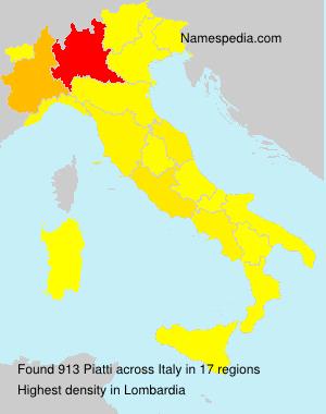 Surname Piatti in Italy
