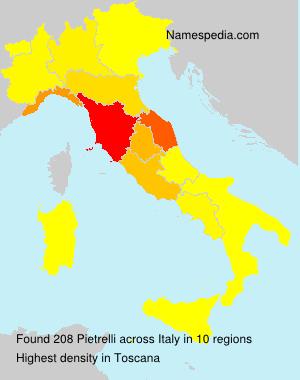 Familiennamen Pietrelli - Italy