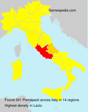 Surname Pietropaoli in Italy
