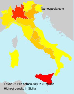 Surname Pila in Italy
