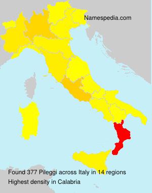 Surname Pileggi in Italy