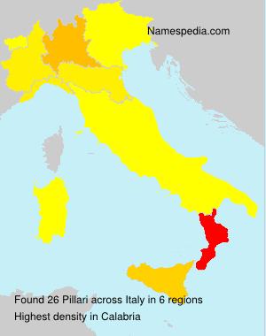 Familiennamen Pillari - Italy