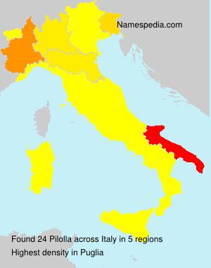 Familiennamen Pilolla - Italy