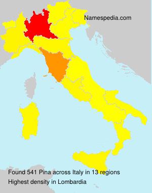 Familiennamen Pina - Italy