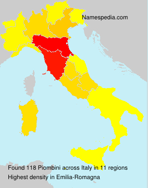 Surname Piombini in Italy