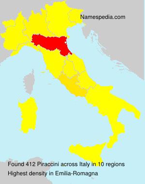 Surname Piraccini in Italy