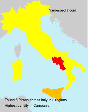 Familiennamen Pirano - Italy