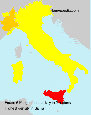 Surname Pitagna in Italy